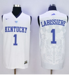 Wildcats #1 Skal Labissiere White Basketball Stitched