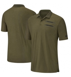 Men Chicago Bears Salute to Service Sideline Polo Olive