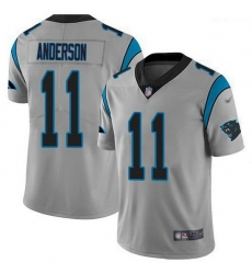 Men Nike Carolina Panthers 11 Robby Anderson Silver Stitched NFL Limited Inverted Legend Jersey