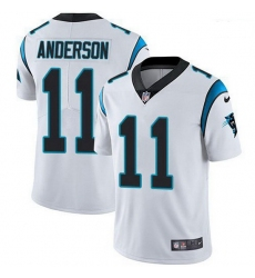 Men Nike Carolina Panthers 11 Robby Anderson White Stitched NFL Vapor Untouchable Limited Jersey