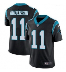Nike Carolina Panthers 11 Robby Anderson Black Team Color Men Stitched NFL Vapor Untouchable Limited Jersey