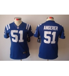 Women Nike Indianapolis Colts 51# Pat Angerer Blue Color[NIKE LIMITED Jersey]