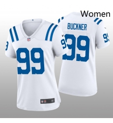 Women Nike Indianapolis Colts 99 Deforest Buckner White Vapor Limited Stitched NFL Jersey