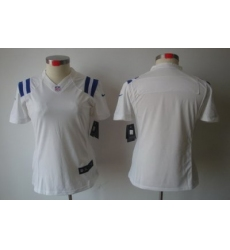 Women Nike Indianapolis Colts Blank White[Women's NIKE LIMITED Jersey]