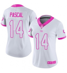 Women Zach Pascal Limited Jersey 14 Football Indianapolis Colts White Pink Rush