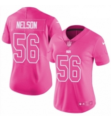 Womens Nike Indianapolis Colts 56 Quenton Nelson Limited Pink Rush Fashion NFL Jersey