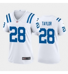 women jonathan taylor indianapolis colts white game jersey