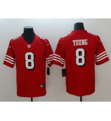 Men's San Francisco 49ers Steve Young 8 Red Nike Scarlet Player Limited Jersey