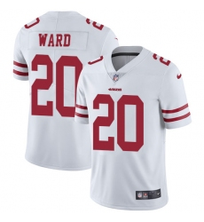 Nike 49ers #20 Jimmie Ward White Mens Stitched NFL Vapor Untouchable Limited Jersey