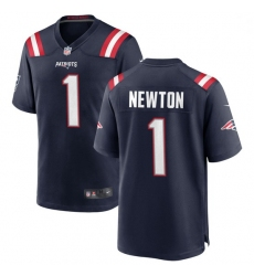 Youth New England Patriots 1 Cam Newton Nike Navy Vapor Rush Limited Player Jersey