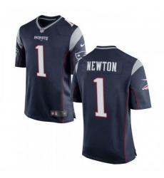 Youth New England Patriots 1 Cam Newton Nike Navy Vapor Untouchable Limited Player Jersey