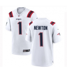 Youth New England Patriots 1 Cam Newton Nike White Vapor Untouchable Limited Player Jersey