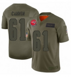 Youth New England Patriots 61 Marcus Cannon Limited Camo 2019 Salute to Service Football Jersey