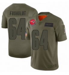 Youth New England Patriots 64 Hjalte Froholdt Limited Camo 2019 Salute to Service Football Jersey