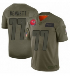 Youth New England Patriots 77 Michael Bennett Limited Camo 2019 Salute to Service Football Jersey