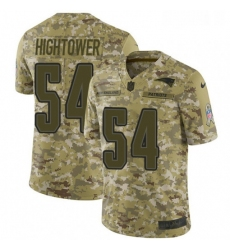 Youth Nike New England Patriots 54 Donta Hightower Limited Camo 2018 Salute to Service NFL Jersey