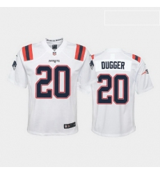 youth kyle dugger new england patriots white game jersey