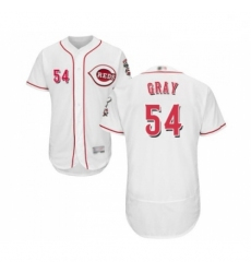Mens Cincinnati Reds 54 Sonny Gray White Home Flex Base Authentic Collection Baseball Jersey