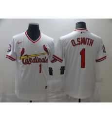 Men Nike St. Louis Cardinals Ozzie Smith White Pullover Cool Base Jersey