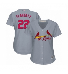 Women's St. Louis Cardinals #22 Jack Flaherty Authentic Grey Road Cool Base Baseball Player Jersey