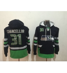 Men Nike Seattle Seahawks Kam Chancellor 31 NFL Winter Thick Hoodie