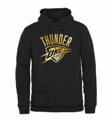 NBA Mens Oklahoma City Thunder Gold Collection Pullover Hoodie Black